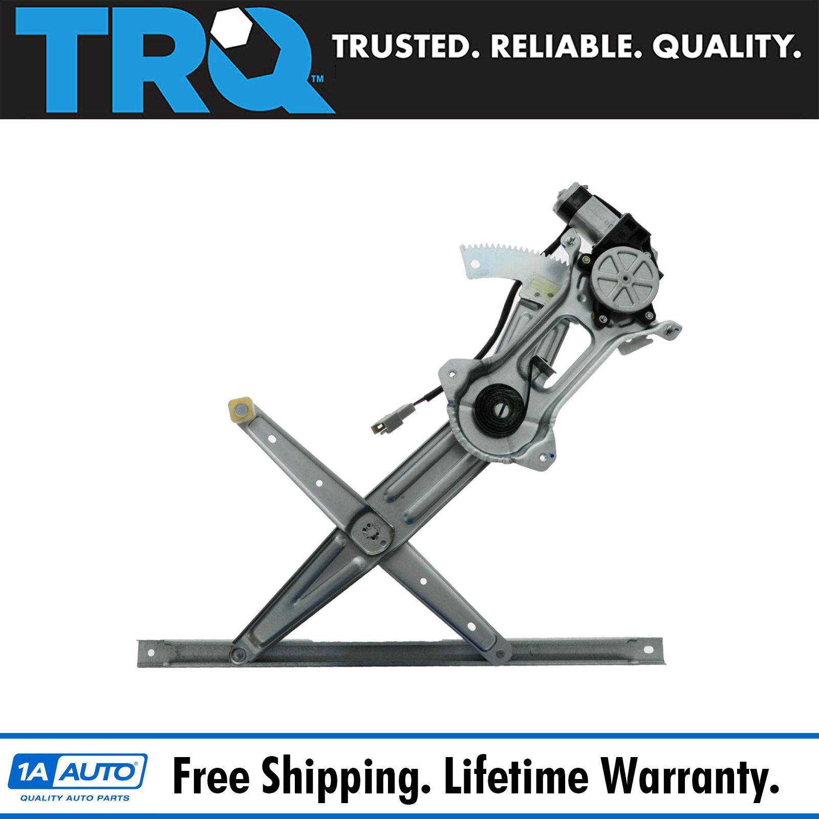 Trq Front Power Window Regulator W   Motor Passenger Side