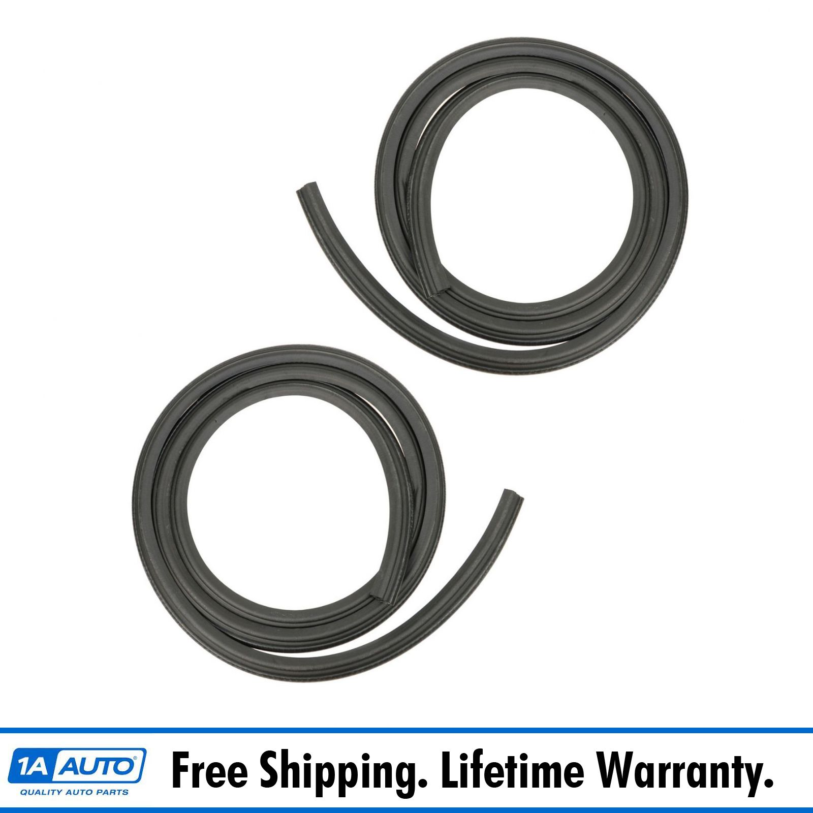 Rubber Door Weatherstrip Seals Pair Set for Chevy GMC Tahoe Suburban Yukon