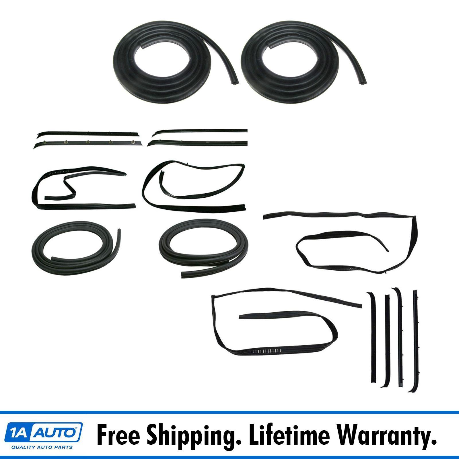 Rear Door Weather Strip Seal 8 Piece Kit Set for Chevrolet GMC Pickup Truck SUV