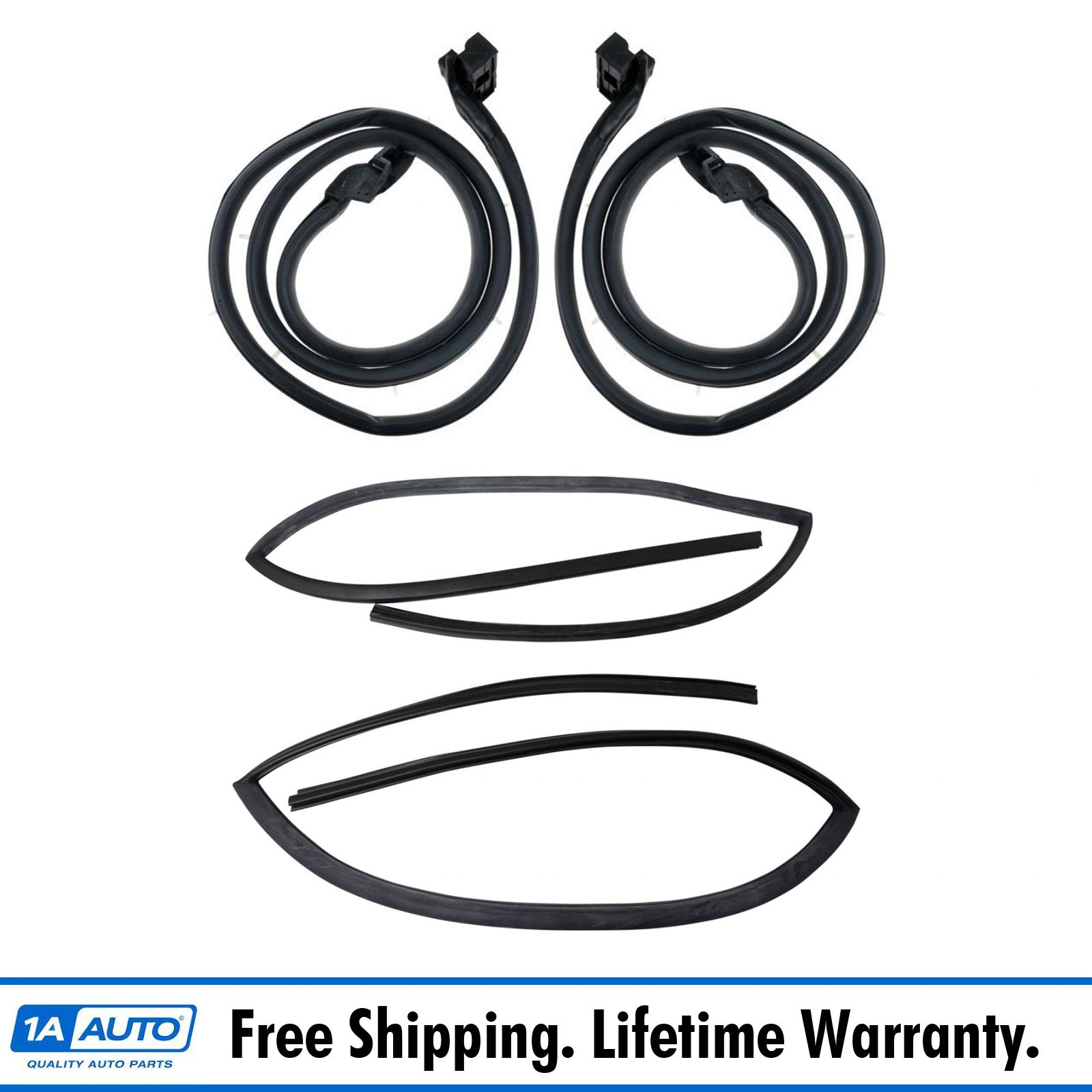 Molded Door Seal Rubber Weatherstrip Pair Set of 2 for 66-77 Ford Bronco