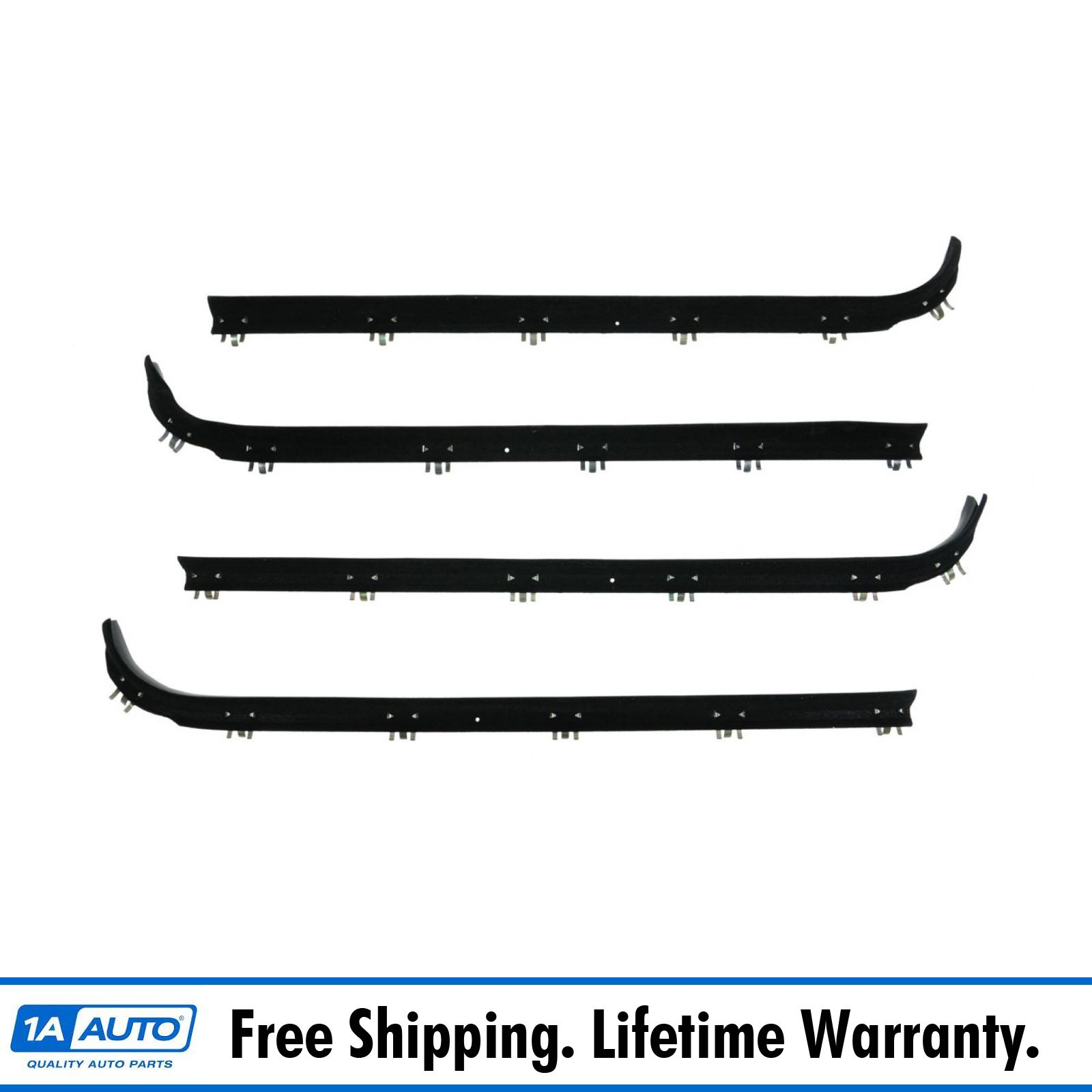 Details about Window Sweep Weatherstrip Seal Kit Set of 4 for 75-91 Ford  Econoline E Series