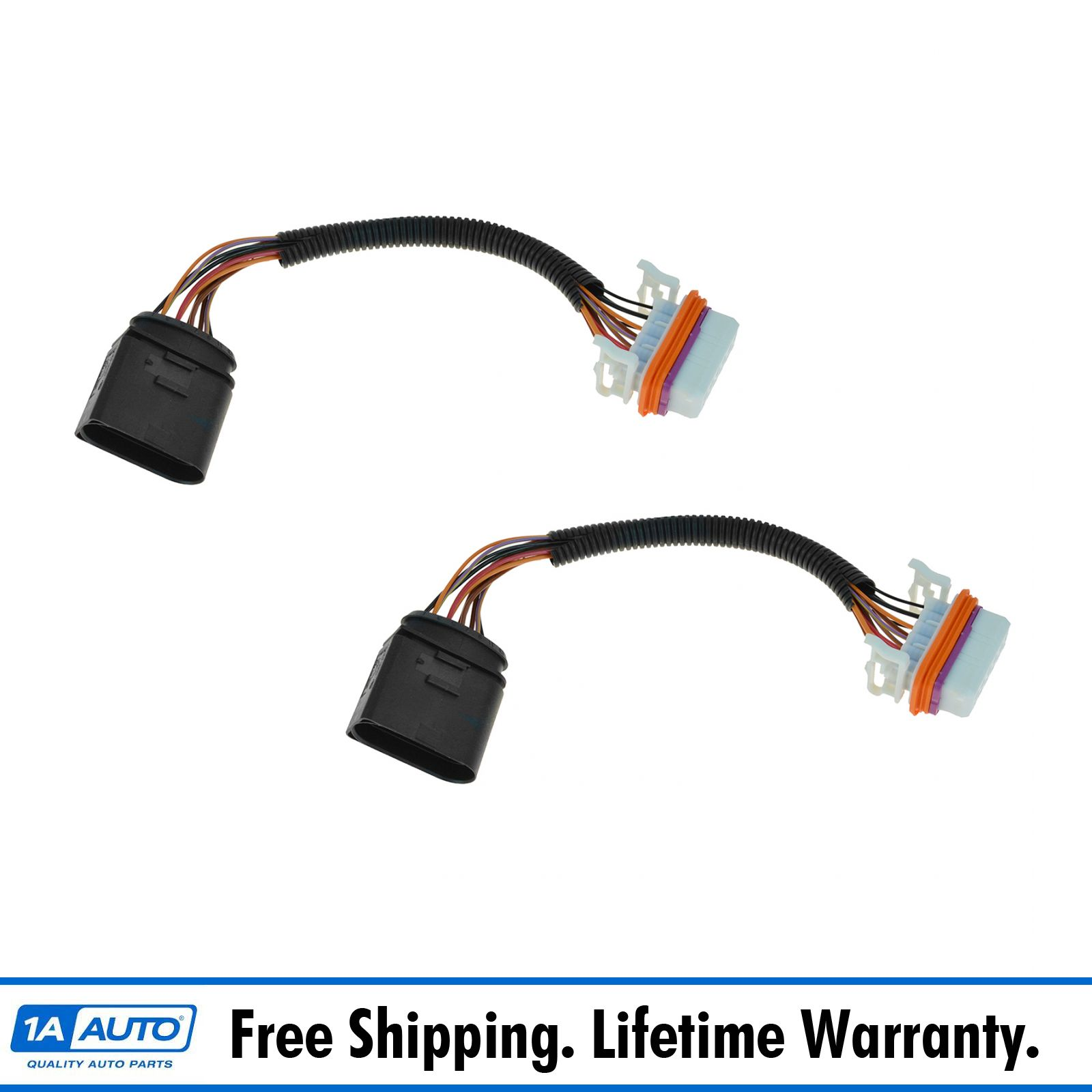 oem 7l6971071a headlight wiring harness pair for 04 07 volkswagen rh ebay  com 2016 VW Touareg 2004 VW Touareg